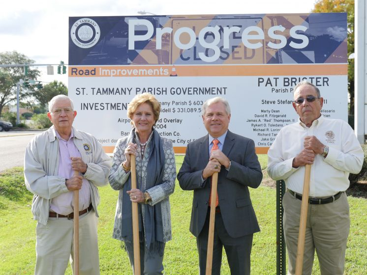 Collaboration Between St. Tammany Parish Government and City of Slidell Brings Nearly $1 million in Improvements to Airport Rd./ Northshore Boulevard