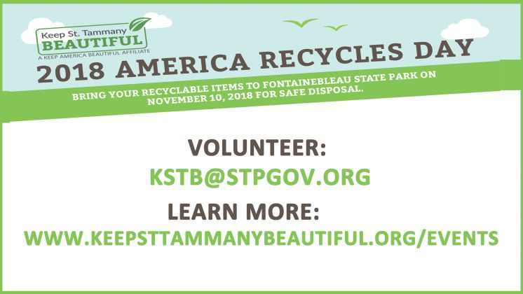 America Recycles Day Coming to St. Tammany on November 10th