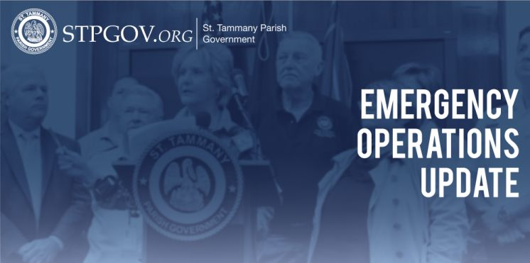 St. Tammany Parish Emergency Operations Update – July 13, 2019