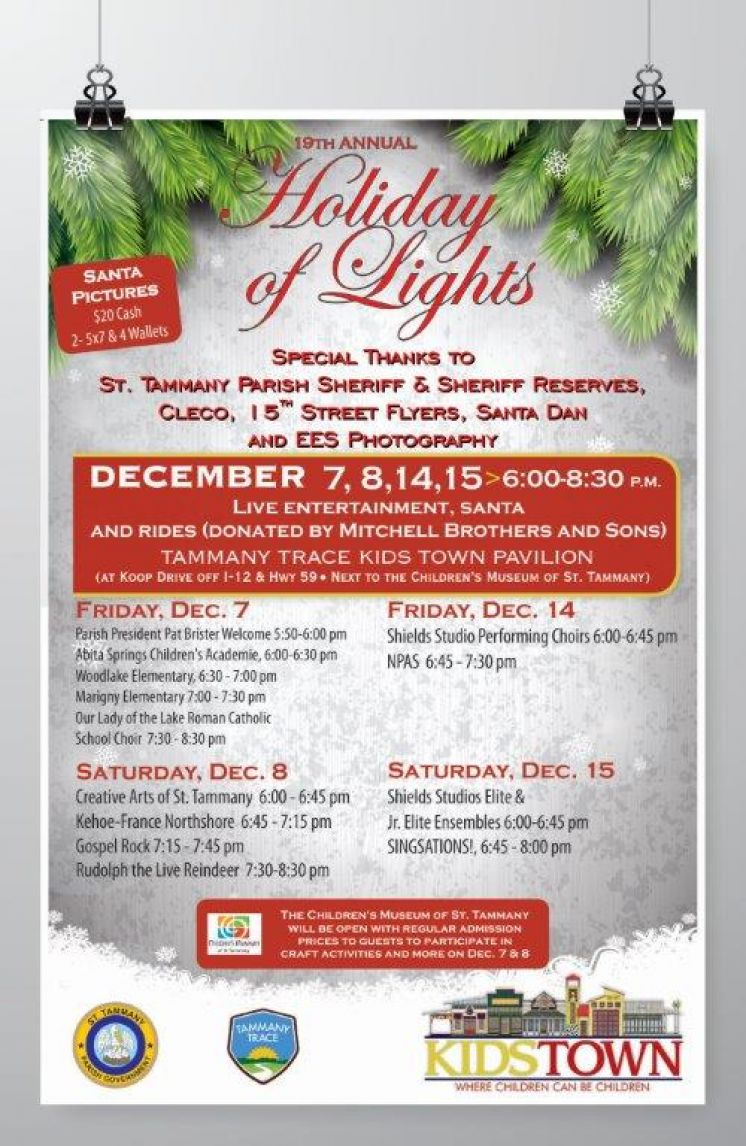 19th Annual Holiday of Lights Kicks off in one Week — Friday December 7, 2018