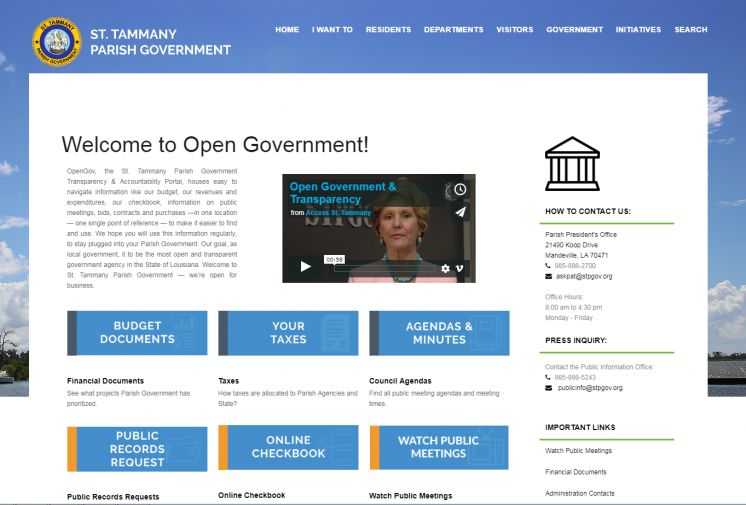Open Government Launched to Increase Accessibility, Engagement